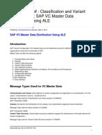 Sap Vc Master Data Distribution Using Ale