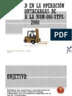 Manejo de Montacargas NOM - 006 STPS