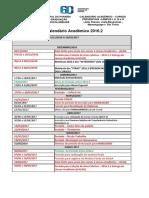 Calendário 2016.2 Acadêmico