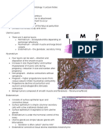Female Reproductive System Histology II Lecture Notes