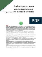 Exportación argentina