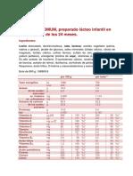 Ficha Nutricional Nidina 4