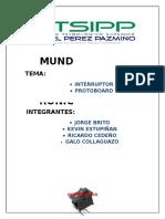 Interruptor y Protoboard - Grupo 6