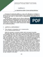 COMUNICAR LA INSTITUCIÓN CON ESTRATEGIA