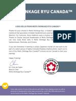 Meifu Shinkage Ryu Canada Branch Information
