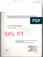 Recomendaciones Mampostería - Uruguay