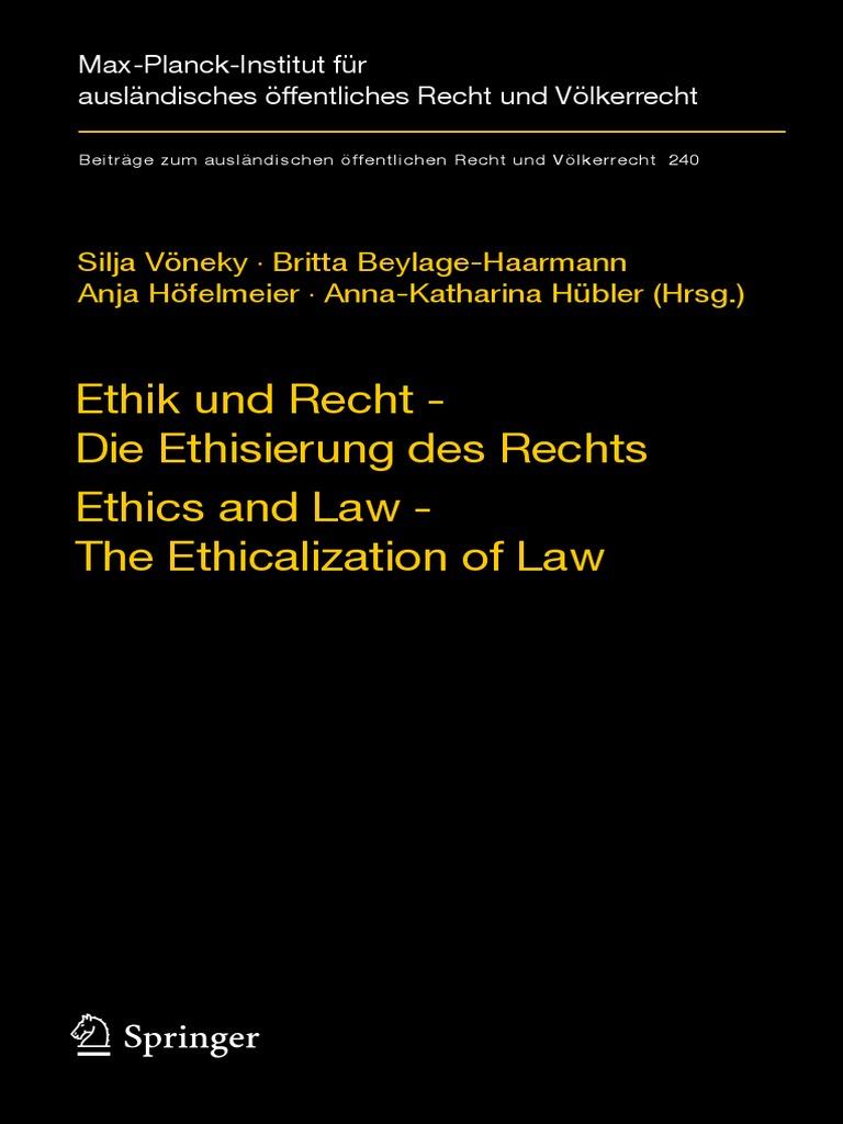 Beiträge Zum Ausländischen Öffentlichen Recht Und Völkerrecht 240 ...