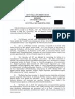 Huntsman Cancer Institute, University of Utah memorandum