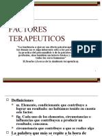 FACTORES TERAPEUTICOS. INTRODUCCION