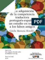 La adquisición de la competencia traductora portugués-español