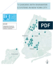 New York City Community Gardens with Rainwater Harvesting Systems
