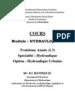 Berreksi - Cours - Hydraulique 3 - l3 Hu