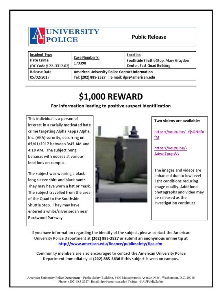 Public Release 170398 2 | American University | Hate Crimes