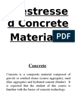 Materials Used in Prestressed Concrete
