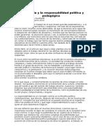 La Docencia y La Responsabilidad Política y Pedagógica