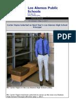 laps press release - los alamos high school principal