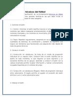 Fundamentos Técnicos Del Fútbol