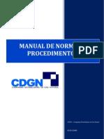 MANUAL DE NORMAS E PROCEDIMENTOS CDGN