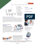 Tensiómetros de Medición Oscilométrica