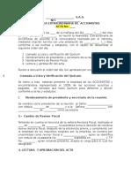 Acta Asamblea Exctraordinaria de Accionistas-Cambio de Revisor Fiscal