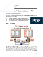 Lab 3 Application Layer - FTP