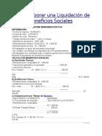 Cómo Elaborar Una Liquidación de Beneficios Sociales