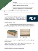 Documentos de Trabajo. Encuadernación.