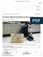 newsela   art student helps the homeless one sign at a time
