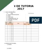 Plan de Tutoria 2017 Formato