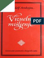 Arnhajm Rudolf Vizuelno Misljenje Jedinstvo Slike i Pojma