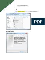 Certificado y Configuracion de Outlook - Exchange Anywhere