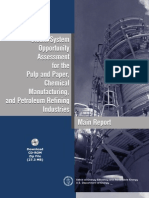 Steam System Opportunity Assessment for the Pulp & Paper, Chemical Manufacturing & Petroleum Refining Industries - Main Report
