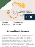 Aminoacidos de La Sangre Loudie Fabius