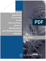 Steam System Opportunity Assessment for the Pulp & Paper, Chemical Manufacturing & Petroleum Refining Industries - Appendices