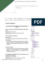 Maestría en Educación Mención_ Enseñanza de La Física UPEL-Maracay _ Líneas de Investigación