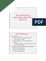 2.1 Termodinamica EquilibrioQuimico2016I