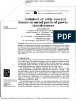 Calculation of eddy current losses in metal parts of power transformers