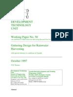 Guttering Design for Rainwater Harvesting
