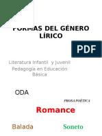 Formas Del Genero Lirico