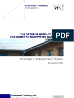 The Optimum Sizing of Gutters for Domestic Roofwater Harvesting