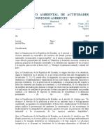 Reglamento Ambiental de Actividades Mineras Ministerio Ambiente
