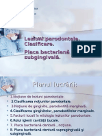 Leziuni Parodontale. Placa Bacteriana