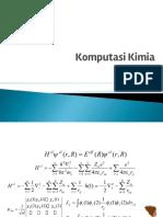Materi Kimia Komputasi Pertemuan 2