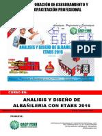 Brochure Analisis Y Diseño de Albañileria Con Etabs 2016