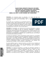 Bases Remate Bien Inmueble Liquidacion Concursal Joseph Eduardo Castillo Castillo-18 de Abril 2017