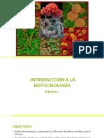 SEMANA 1 - Introducción a La Biotecnología