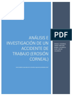 Analisis e Investigacion de Un Accidente de Trabajo (LESION CORNEAL)