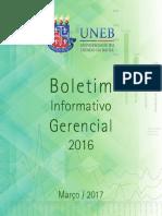 Boletim Informativo Gerencial 2016