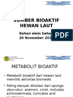 Sumber Bioaktif Hewan Laut 20 Nov 2013