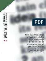 SEPAR - Técnicas Manuales e Instrumentales Para El Drenaje de Secreciones en El Paciente Adulto